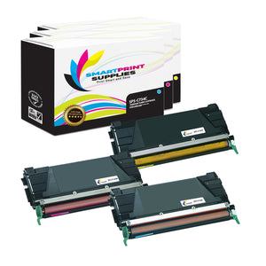 3 Pack Lexmark C734 Replacement (CMY) Toner Cartridge by Smart Print Supplies