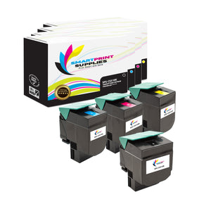 4 Pack Lexmark CS510 Replacement (CMYK) Toner Cartridge by Smart Print Supplies