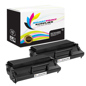 2 Pack Lexmark T610 Replacement Black MICR Toner Cartridge by Smart Print Supplies