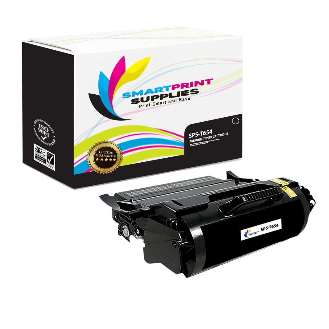 Lexmark T654 Replacement Black Toner Cartridge by Smart Print Supplies
