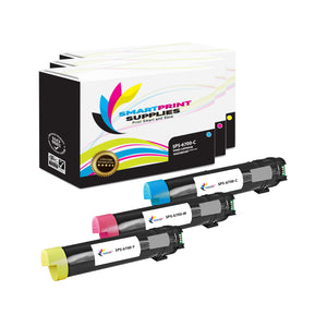 3 Pack Xerox Phaser 6700 3 Colors Toner Cartridge Replacement By Smart Print Supplies