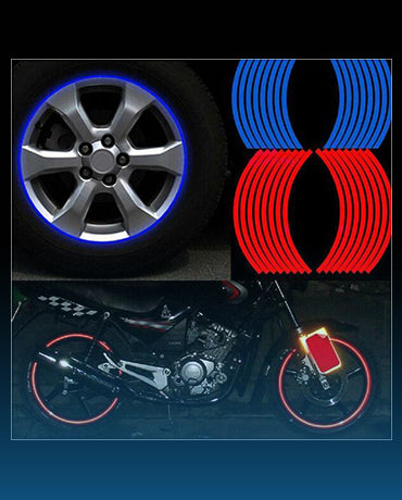 Reflective Rim Tape Decal for 14