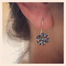 Sterling Silver Multicoloured Crystal Earrings
