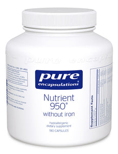 Nutrient 950 w/Iron - 180 Capsules
