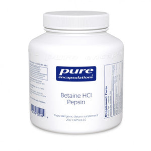 Betaine HCL w/ Pepsin - 250 Capsules