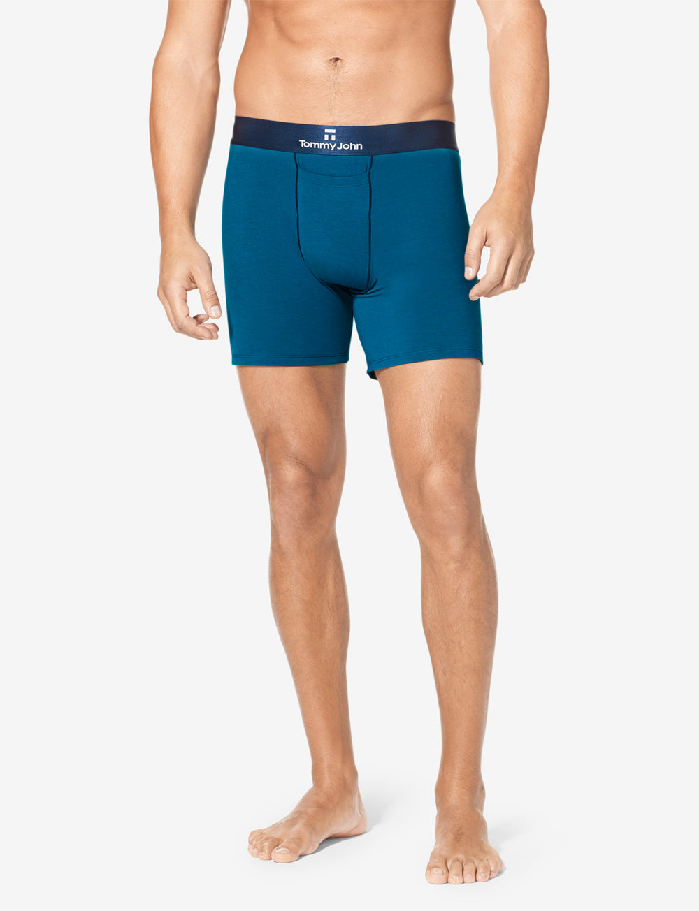 Second Skin Contrast Stitch Relaxed Fit Boxer Details Image