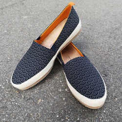 Mulo Loafers, Printed Japanese Cotton
