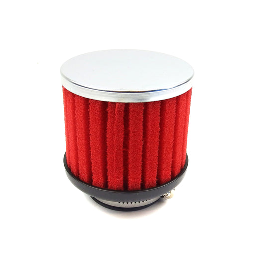 Air Filter - Ribbed Sponge - 42mm - Straight - Red