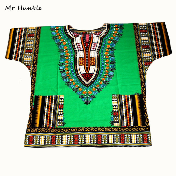 New African Dashiki Fashion Design African Traditional Floral Print Dashiki