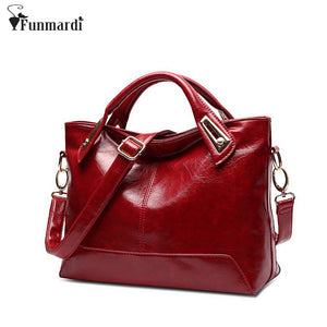 Women Oil Wax Leather Designer Handbags High Quality Ladies Fashion.