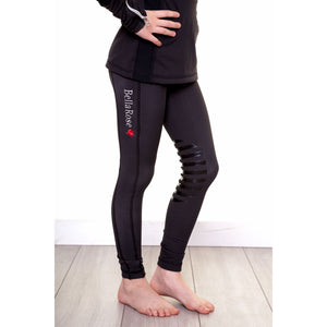Junior Bella Rose Black Knee Grip Riding Leggings