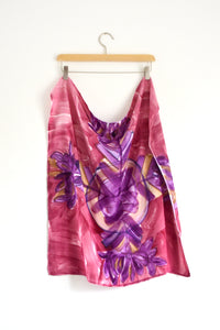 Watercolor Neck Scarf - Plum Blossom