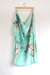 Watercolor Square Scarf - The Garden