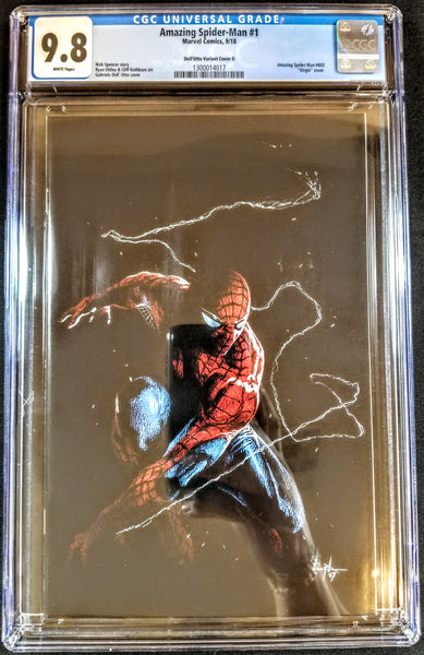Amazing Spider-man #1 (Marvel, 2018), Dell'Otto Virgin Variant, CGC 9.8, of 500