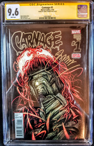 Carnage #1 (Marvel, 2015), Graded CGC Signature Series 9.6, Signed by Conway