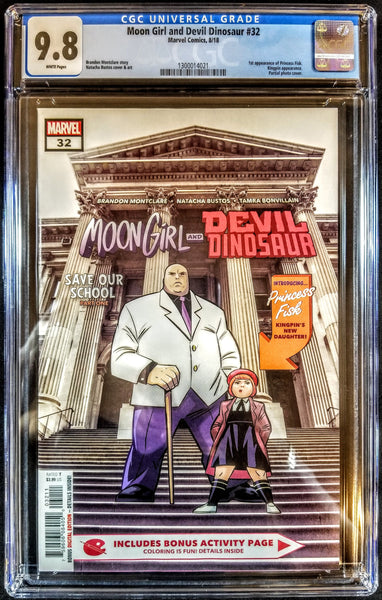 Moon Girl Devil Dinosaur #32 (Marvel 2018) 1st Appearance Princess Fisk, CGC 8.5