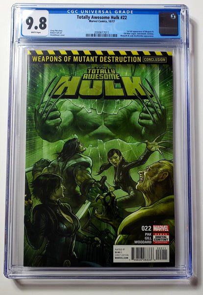 Totally Awesome Hulk #22 (Marvel, 2017), Weapon H 1st Appearance, CGC 9.8, HOT!!