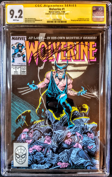 Wolverine #1 (Marvel, 1988), Graded CGC Signature Series 9.2 Signed by Claremont