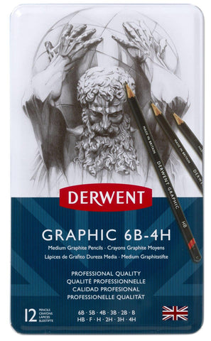 Derwent Graphic Sketch Pencils 12 Technical Medium Set