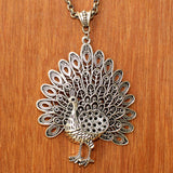 Imeora Peacock Pendant With 20 inch Chain