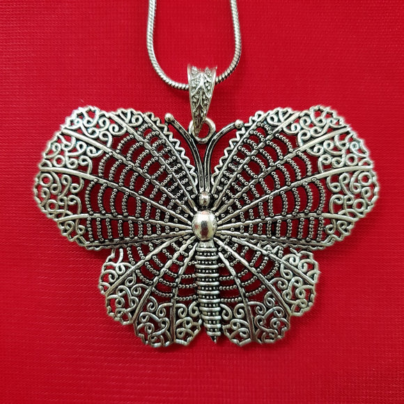 Imeora Butterfly Pendant With 19 inch Chain