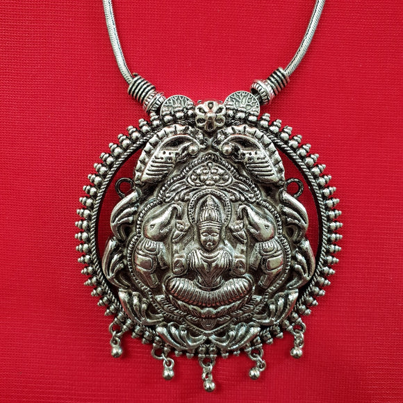 Imeora Laxmi Pendant with Elephants on Both Sides