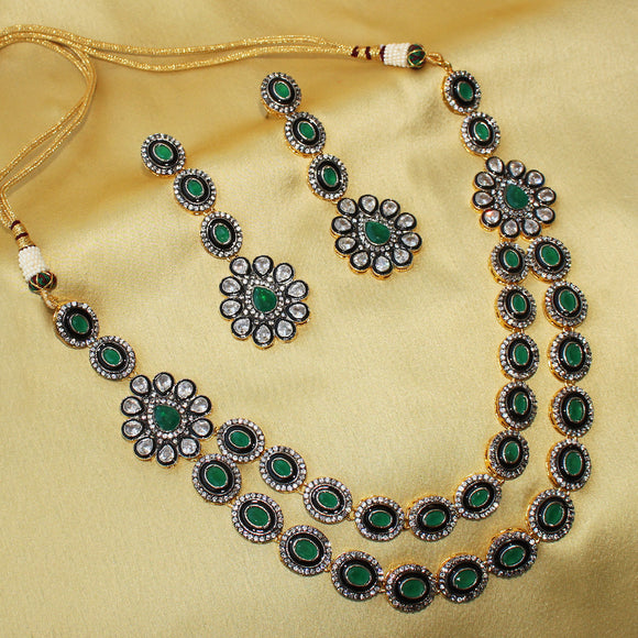 Imeora Green Victorian Fantasy Necklace Set