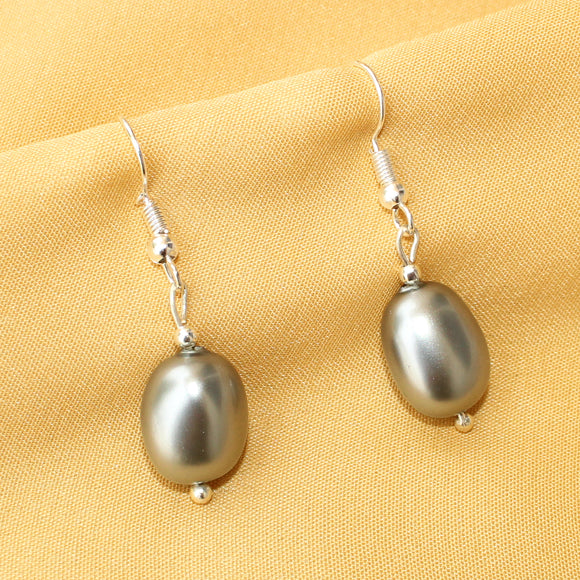 Imeora Silver Shell Pearl Earrings