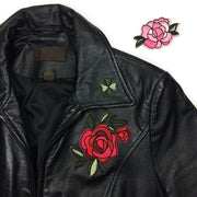 Patch on leather coat