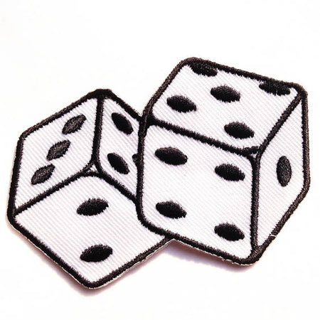 Dice iron-on patch