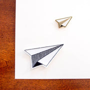 Enamel Pin + Sticker Patch (DUO) - Paper Plane