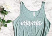 The Signature Mama Tank Top | Limited Edition Dusty Blue - designtwentyfive