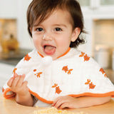 mod about baby - frog + fish classic burpy bibs