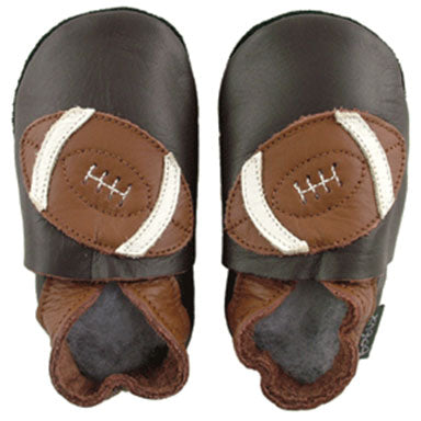 Bobux Chocolate Football Soft Sole Baby Shoes - tummystyle.com