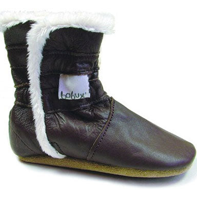 Bobux Pull Apart Chocolate Baby Boot - tummystyle.com