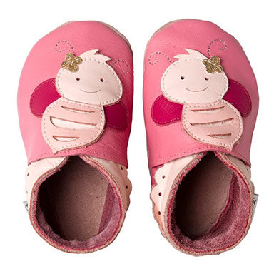 Bobux Pink Bee Soft Sole Baby Shoes - tummystyle.com