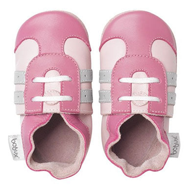 Bobux Pink Sport Soft Sole Baby Shoes - tummystyle.com