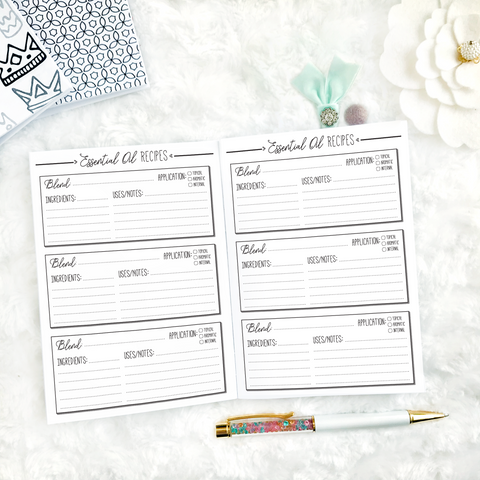 Essential Oil Planner | Printed