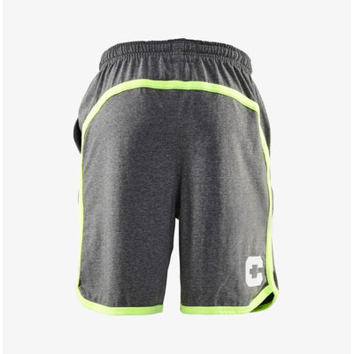Cln Athletics | Man - Bow Jersey Short | Mid Grey Melange