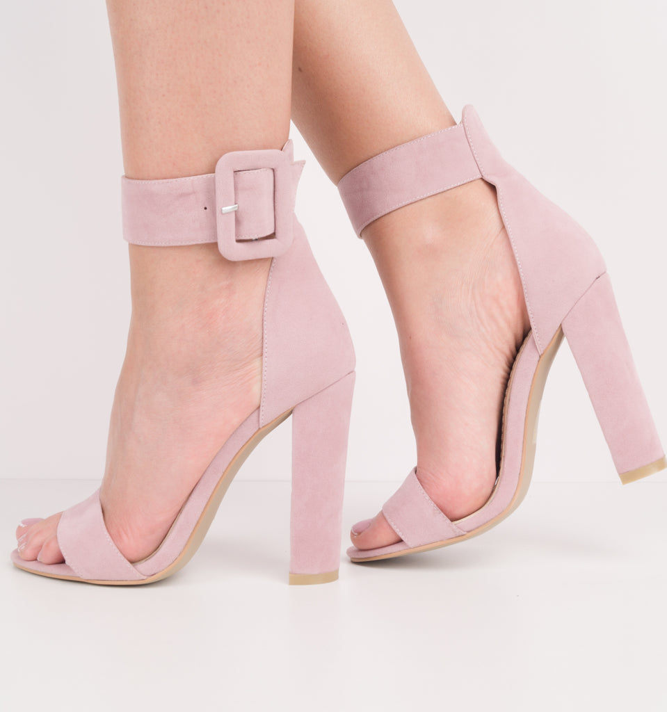 Marylin Ankle Strap Block Heels