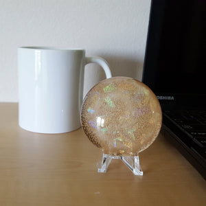 Celestial Dome Paperweight - Rose Gold