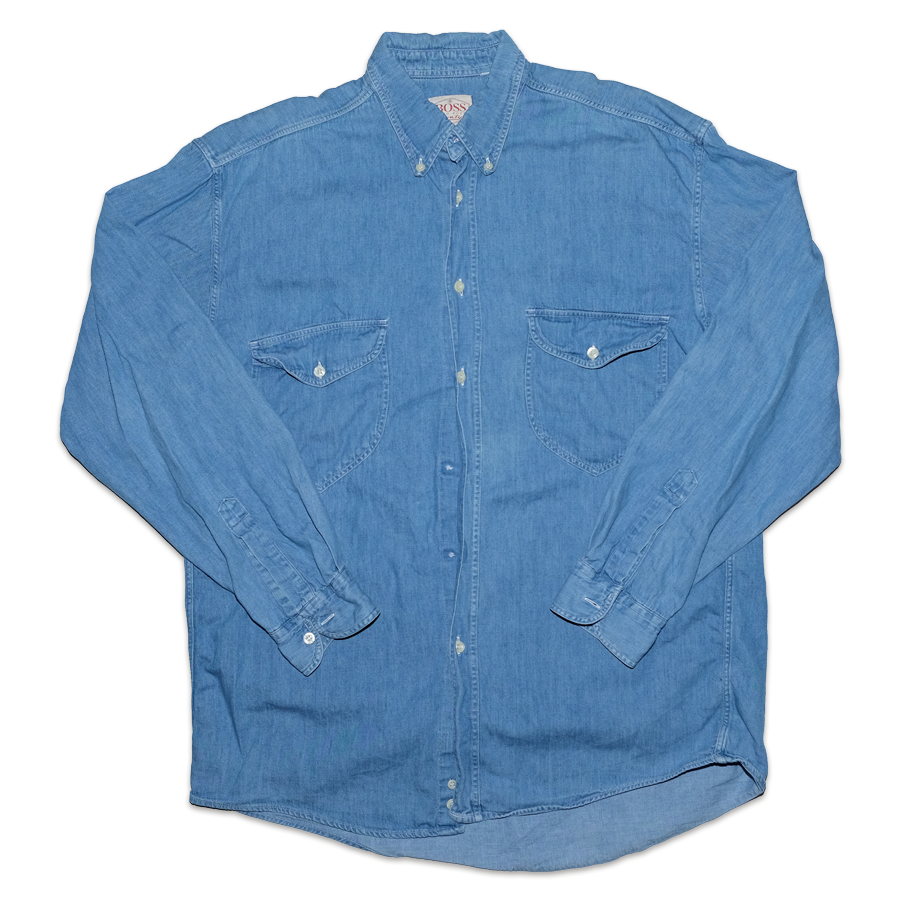 Vintage Hugo Boss Denim Shirt XLarge