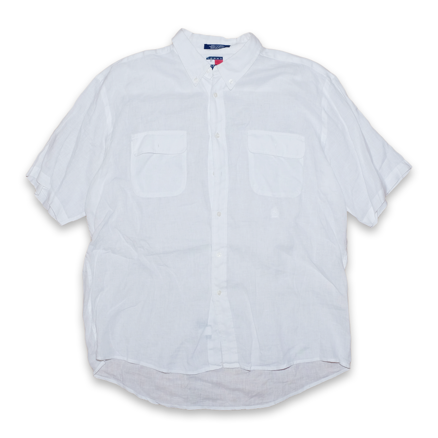 Vintage Tommy Hilfiger Short Sleeve Button Down Shirt White