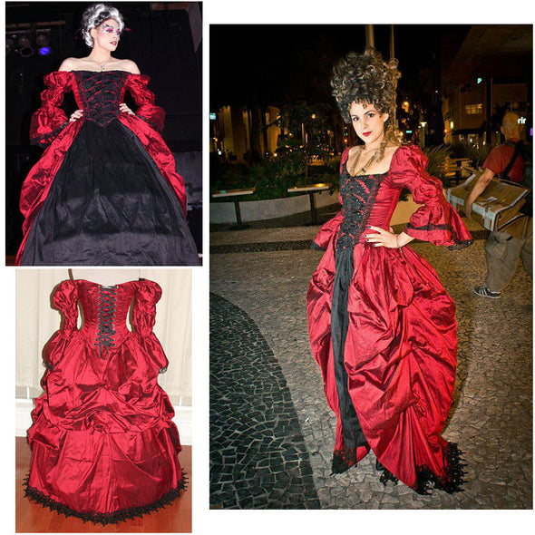 1860S Victorian Corset Gothic/Civil War Southern Belle Ball Gown Dress Halloween dresses  CUSTOM MADE R534 - Cosplay Infinity