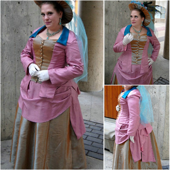 1860S Victorian Corset Gothic/Civil War Southern Belle Ball Gown Dress Halloween dresses  CUSTOM MADE R597 - Cosplay Infinity