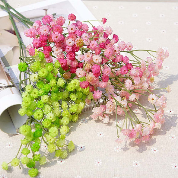1 Bundle 135 Heads Artificial Flowers Sky Stars Bridal Bouquet Home Wedding Decoration