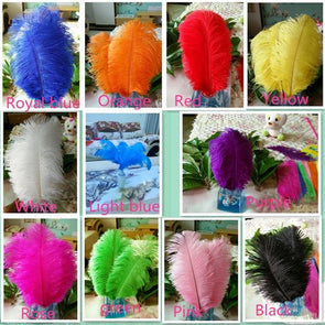 "new! 50pcs high quality ostrich feathers, 8-10""/ 20-25cm DIY wedding cosplay wings headdress"