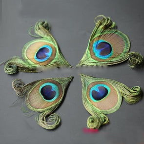 NEW! 50pcs/lot! Hand trimmed natural peacock eye feathers craft millinery DIY wedding cosplay wings headdress