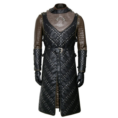 Game of Thrones Season 8 Jon Snow Knight Cosplay Costume Leather Battle Armor Suit Set Custom Made