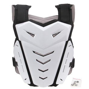White Motocross Off Road Armor Racing Motorcycle Jacket Protective Gear Cosplay Costume
